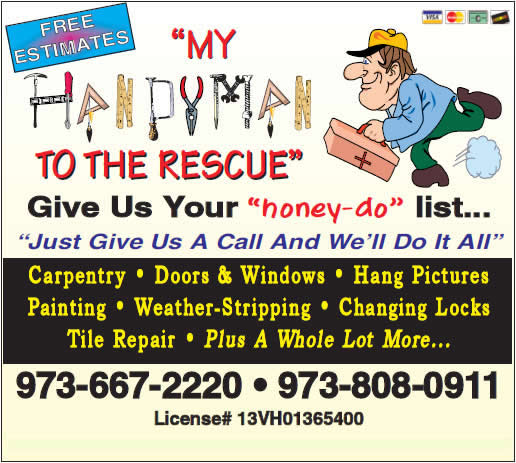 Northern New Jersey handyman services